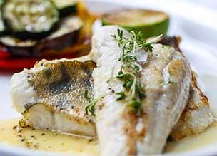 דג במסעדת פאר בברצלונה